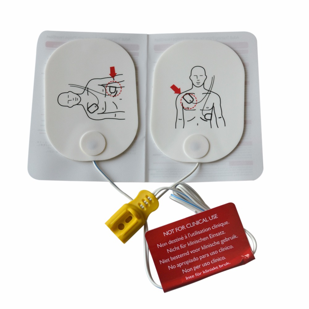 High Quality 1Pair Adult Training Replacement Pads Use With AED Training Model Universal Trainer P150 Emergency Rescue Kit high quality 1 pair right