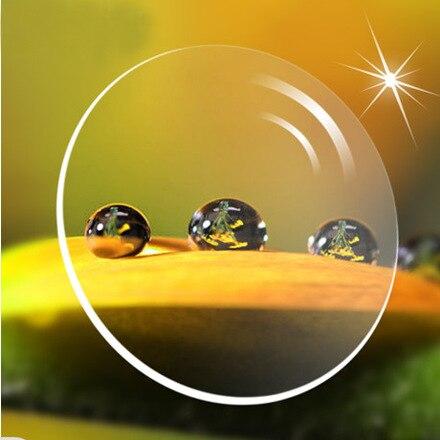 BOYEDA 2pcs Aspherical anti radiation anti reflective prescription lens Index 1 74 Cr 39 eyeglasses myopic