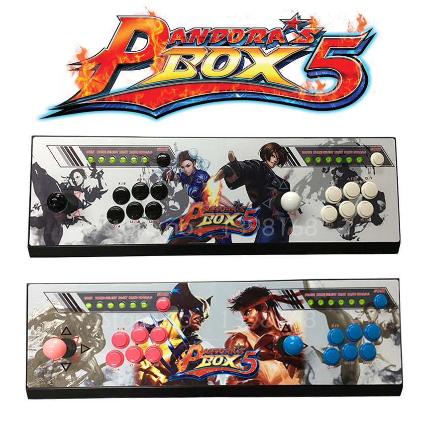 New Pandora box 5 960 in 1 Arcade control kit joystick USB buttons zero delay 2 players VGA HDMI arcade console controller pc tv pandora box 4s 2 player arcade console for home 815 in 1 family game consoler with 5 pin 8 way joystick lock button hdmi vga out