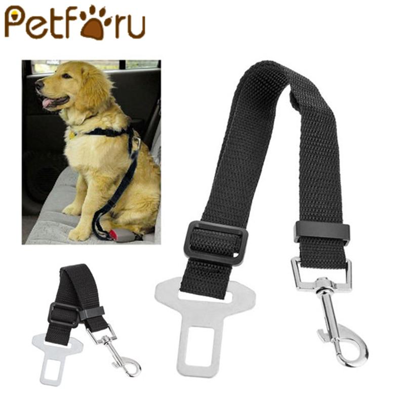 Petforu 1 قطع تعديل حزام الأمان الكلب مقعد السيارة الحيوانات الأليفة الكلاب حزام الأمان القط الناقلون يؤدي أحزمة اكسسوارات الحيوانات الأليفة