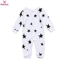 Autumn Winter Newborn Jumpsuit Baby Boy Clothes Cotton Warm Romper Baby Girl Onesie Stars Pattern Infant Rompers