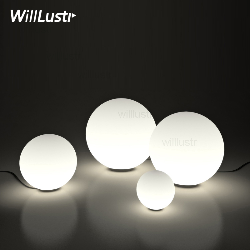 Modern LED Round Ball Table Lamp Frosted Milk White Global Glass Shade Dioscuri Hotel Bedroom Sofa Bed Side bedside Desk Light|globe table light|table lamp|table light - title=