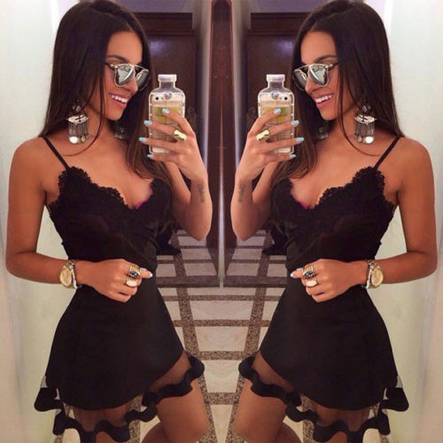 Fashion Hot Sale Summer <font><b>Sexy</b></font> Sleeveless lace beach Evening Party Short <font><b>Mini</b></font> <font><b>Dress</b></font> Women <font><b>Casual</b></font> bandage bodycon <font><b>Dress</b></font> image