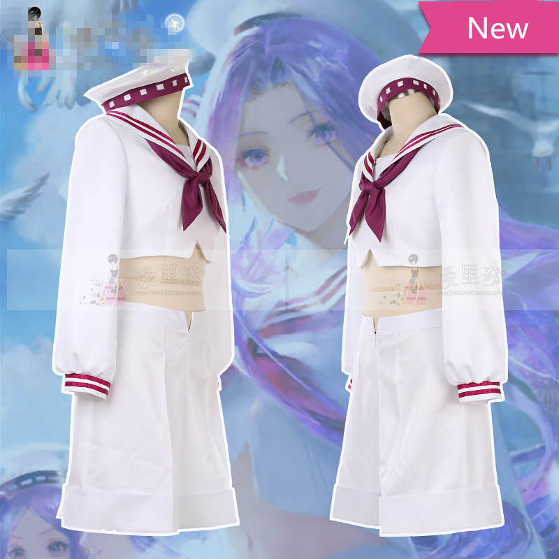 Fate/Grand Orde Cosplay FGO Medusa sailor suit cosplay costume hat crop top dress can custom made/size 2