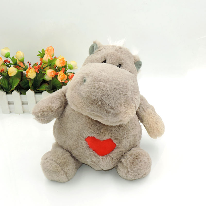 30CM Cute Hippos Plush Dolls Stuffed Animals Hippopotamus Soft Hippo Toys for Children Kids Birthday Gifts Grey Brown Red Colors 6pcs plants vs zombies plush toys 30cm plush game toy for children birthday gift