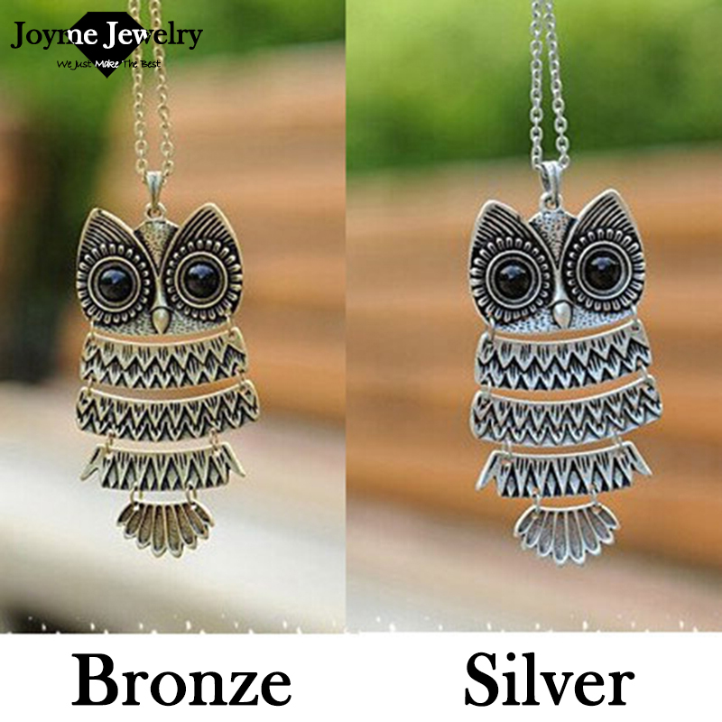 product Korea Adorn Article Vintage Owl Pendants Necklace Ancient the Owl Sweater Chain Jewelry