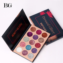 Beauty Glazed 15 Color Glitter Eyeshadow Makeup Palette Waterproof Ultra Shimmer Pigmented Eye shadow Powder Palete Dropshipping