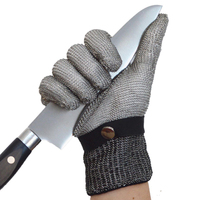 2Pcs/Lot Anti cut Gloves Steel Wire Safety Cut Resistant Glove Anti stab Stainless Steel Grade 5 Iron Gloves Durable GST014