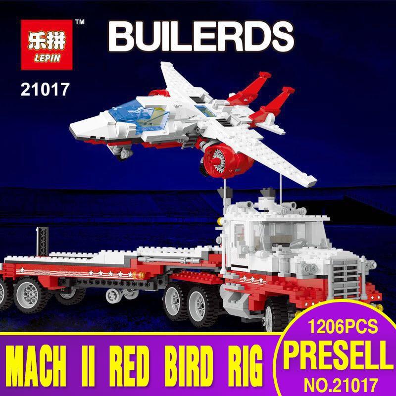 Lepin 21017 1206 Unids Genuino Modelo de Serie El Mach II Rojo Rig Set Niños Edu