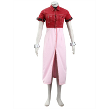 Free Shipping Cosplay Costume Final Fantasy VII 7 Aerith Gainsborough Halloween Christmas Party Costume suit High Quality F96 цена и фото