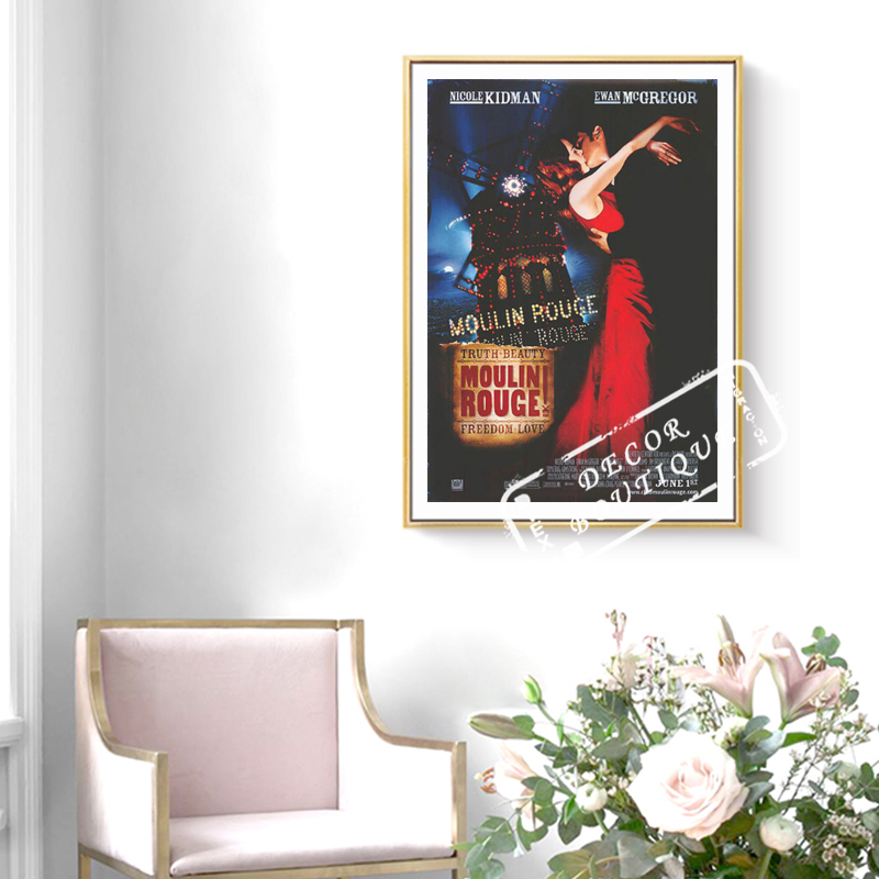 Moulin Rouge (2001) Film Movie Vintage Decorative Kraft Poster Canvas Painting Wall Sticker Home Decor Gift