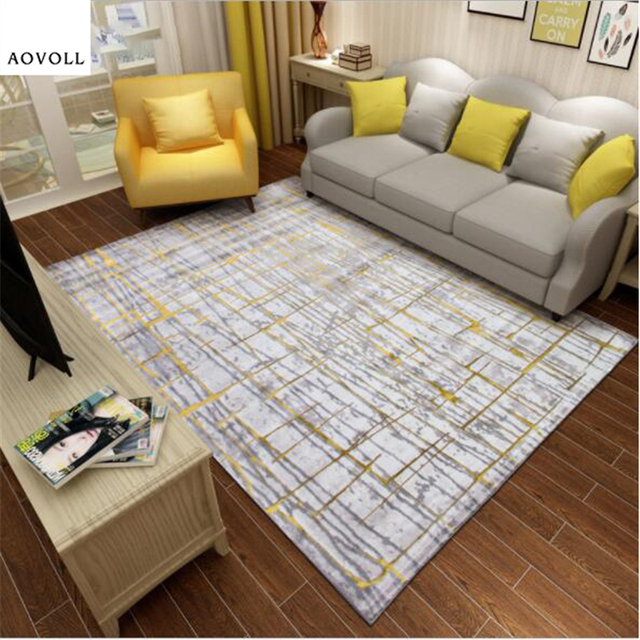 AOVOLL Light Style Hot Fashion Carpets For Living Room Bedroom Kid Room Rugs  Home Carpet Floor Door Mat Large Modern Area Rug