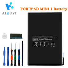 AIKUYI Replacement Battery for iPad Mini 1 A1432 A1454 A1455 Complete Repair Tools Kit 4440mAh все цены