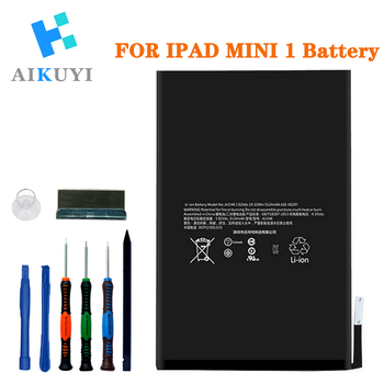 AIKUYI Replacement Battery for iPad Mini 1 A1432 A1454 A1455 Complete Repair Tools Kit 4440mAh alangduo 5pcs for ipad mini 1 a1432 a1454 a1455 mini 2 a1489 a1490 a1491 apple touch screen digitizer glass panel replacement