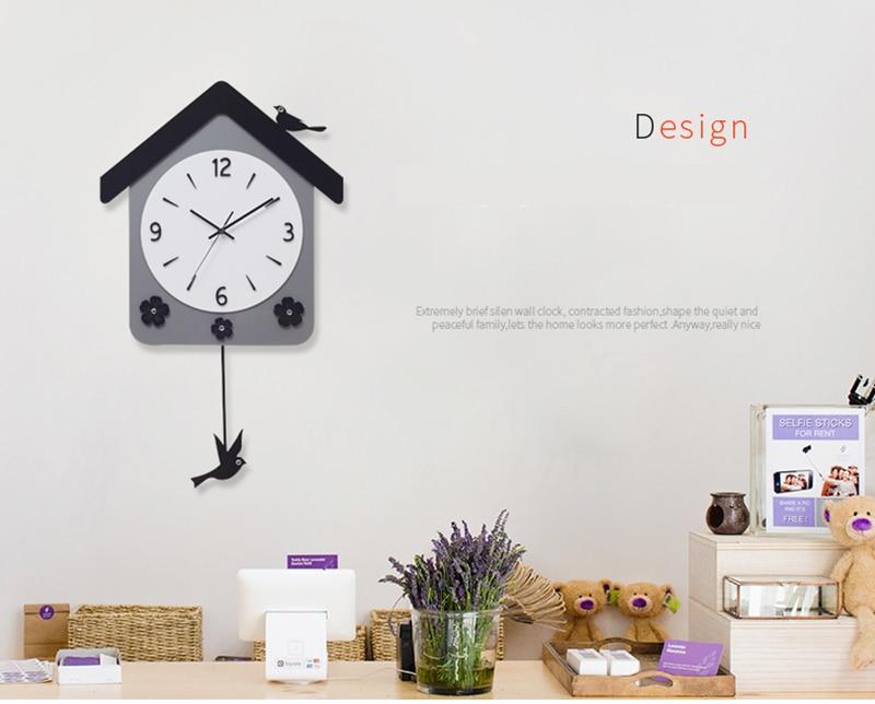 Rock n Roll Wall Clock Retro Room Clock Cloock Nordic Clock Wood Wall Clock Mickey Kitchen Big Clock Wall Mirror Wall Clock Watch (11)