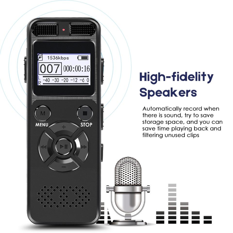 Enregistreur vocal numérique Dictaphone Secret Mini registraire HIFI stéréo son Microphone Support enregistrement téléphonique TF Expansion-in Enregistreur numérique vocal from Electronique    1