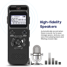 цена на Secret Dictaphone Digital Voice Recorder Mini Registrar HIFI Stereo Sound Microphone Support Telephone Recording TF Expansion