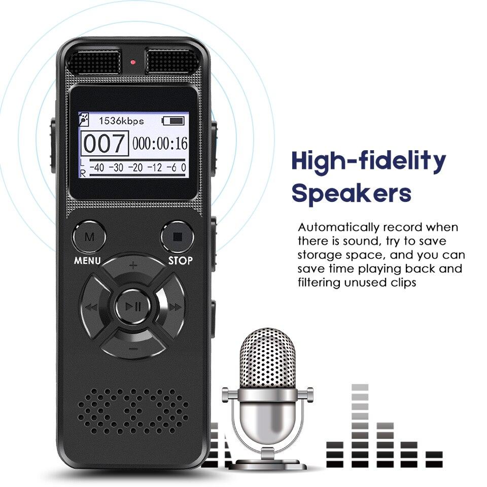 Secret Dictaphone Numérique Voix Enregistreur Registraire Mini HIFI Stéréo Son Microphone Support Téléphonique D'enregistrement TF Expansion