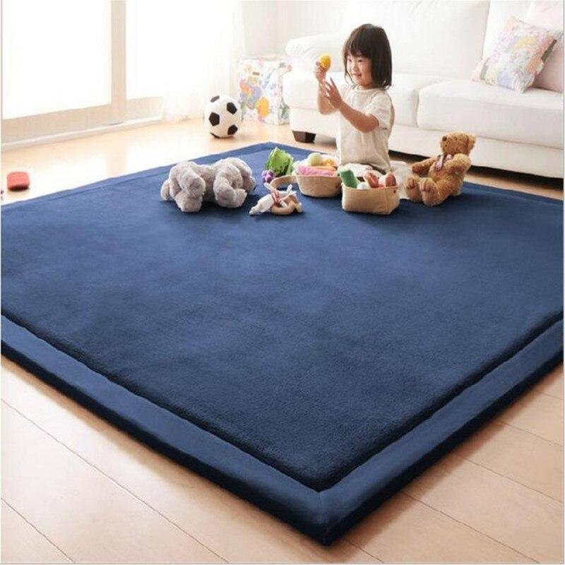 Épais 3 CM corail polaire velours tapis chambre tapis bébé jouer tapis salon lit tapis grande taille enfant tapis