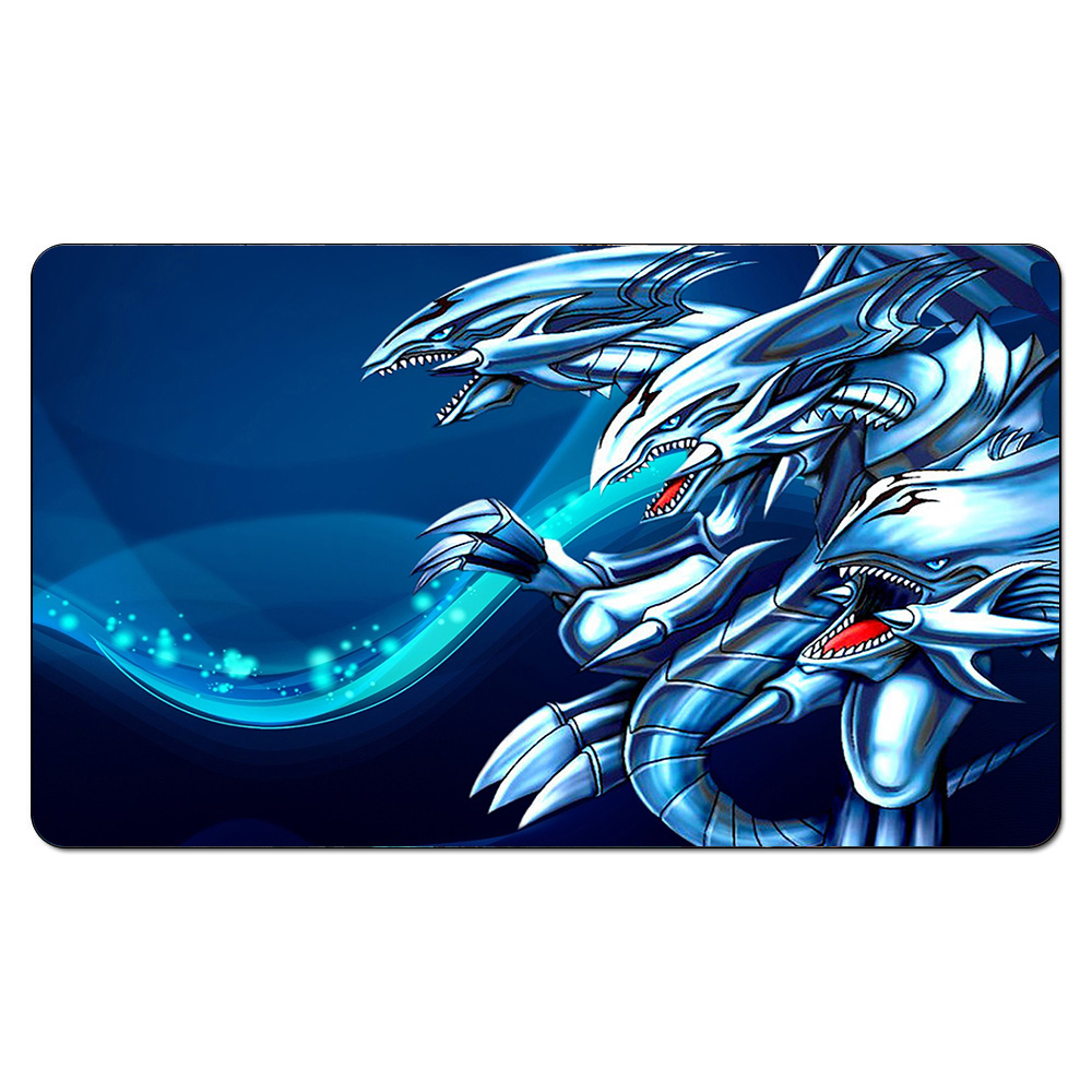 Us 18 99 Blue Eyes White Dragon Yugioh Playmat Board Games The Play Mat Pad Ygo Card Games Playmat Custom Table Pad With Free Bag In Board Games