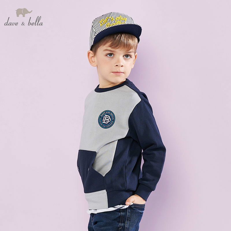 DBK9083 dave bella 5Y-13Y kids boys fashion pullover children long sleeve t shirts baby boutique handsome topsDBK9083 dave bella 5Y-13Y kids boys fashion pullover children long sleeve t shirts baby boutique handsome tops