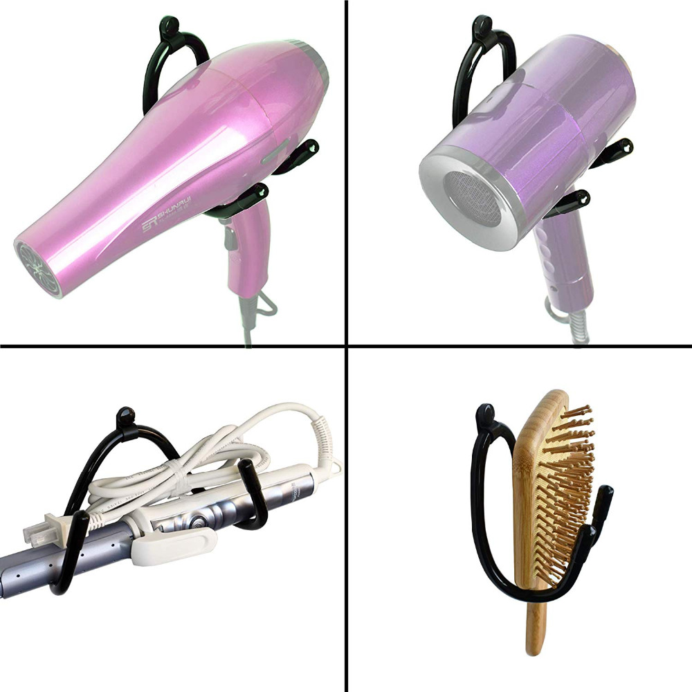 Bathroom Hair Javascript:;Blow Dryer Rack Holder Hair Dryer Storage Organizer Wall Mount Stand Compatible With Most Hair Dryers