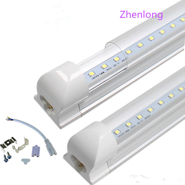 led tube lights 8ft 6ft 5ft 4ft Integrated T8 Tube Lights SMD2835 110lm/W  High Bright Frosted Transparent Cover AC 85 265V UL DL-in LED Bulbs & Tubes