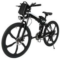 26 Inch Wheel Aluminum Alloy Frame Folding Mountain Bike Cycling Bicycle Folding Electric Bicycle Mountain E