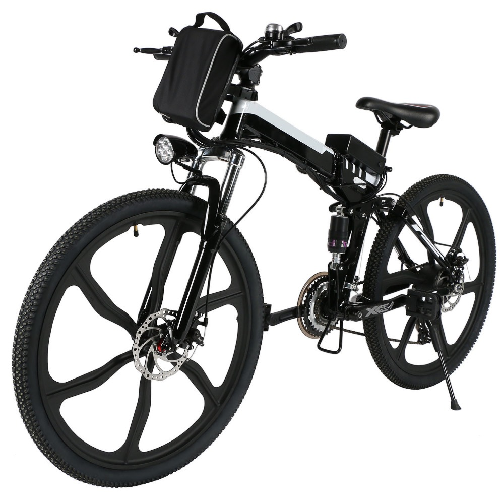 ANCHEER 26 inch Wheel Aluminum Alloy Frame Folding Mountain Bike Cycling Bicycle folding electric bicycle Mountain E-bike цена