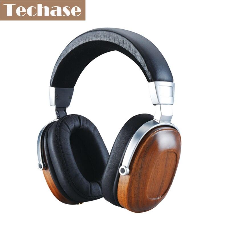 Techase Original Wooden Oordopjes 3.5MM AUX Headset Luxury Headphones Hifi Sound Audifonos Dynamic Earphone PK Xiaomi Headphone kz headset storage box suitable for original headphones as gift to the customer