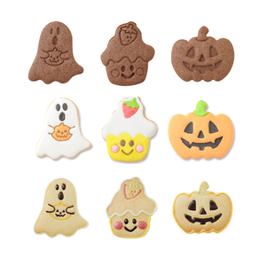 Image 4 - Bakeware 4pcs Halloween Theme Plunger Biscuit Mold Cutter plastic cookie cutter Biscuit Stamp Mould Fondant Tool Pastry  tools