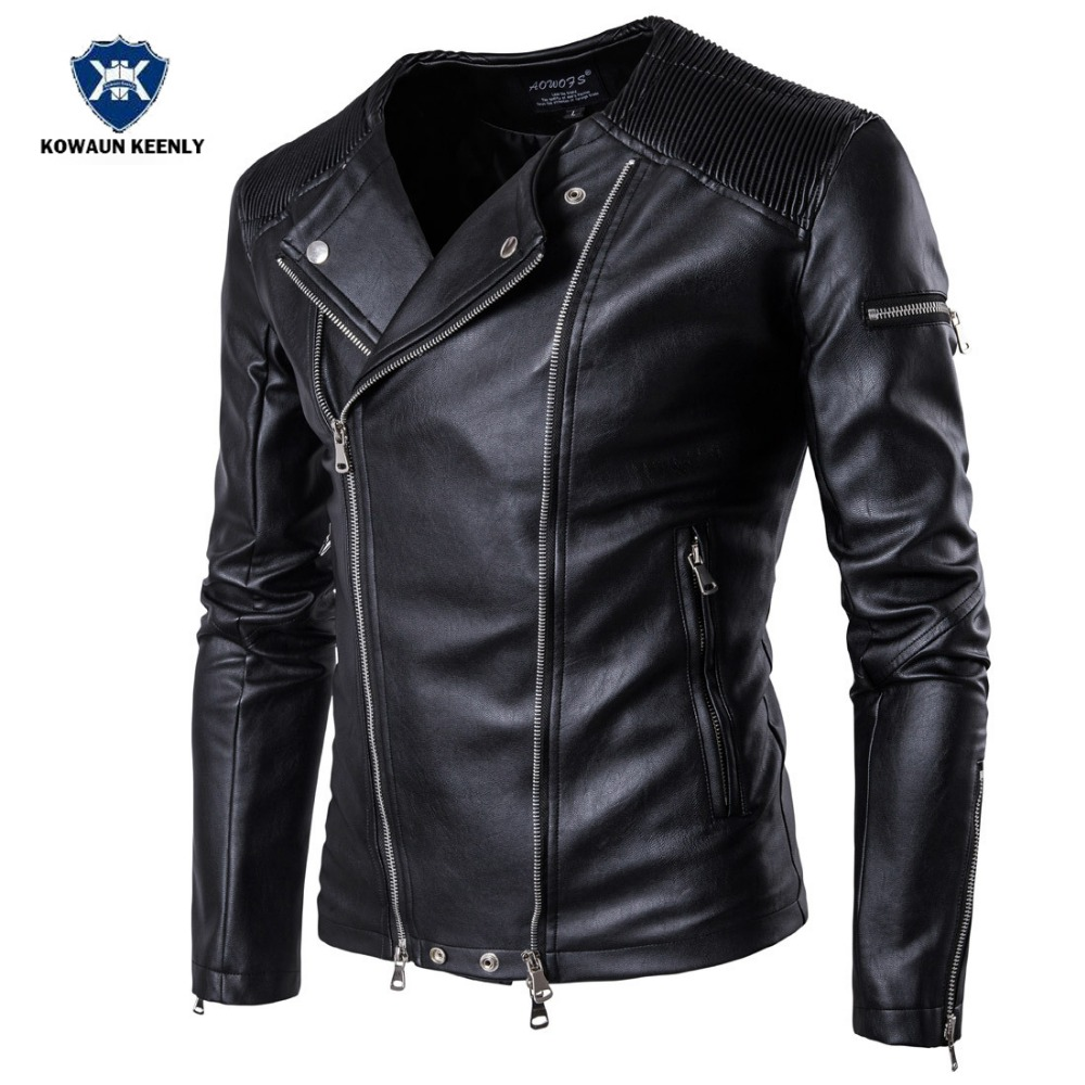 Men Leather Jackets Black Stand Collar Pu Leather Punk Coat Mens Winter Leather Motorcycle Jacket Faux Fur Leather Overcoat 5XL