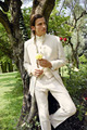 2016 Костюмы На Заказ Кот Жених Смокинги Best Man Groomsmen Мужчины Свадебные Костюмы Жених (Куртка + Брюки + Жилет + галстук)