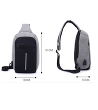 Canvas Unisex Backpack Anti Theft With Usb Charging Knapsack Travel Bag