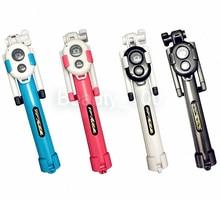 Мини-Выдвижная Универсальный Bluetooth Selfie Палка Монопод Selfie Stick + Пульт Дистанционного Спуска Затвора Для Камеры Для Samsung Для iPhone 6 6 S Plus