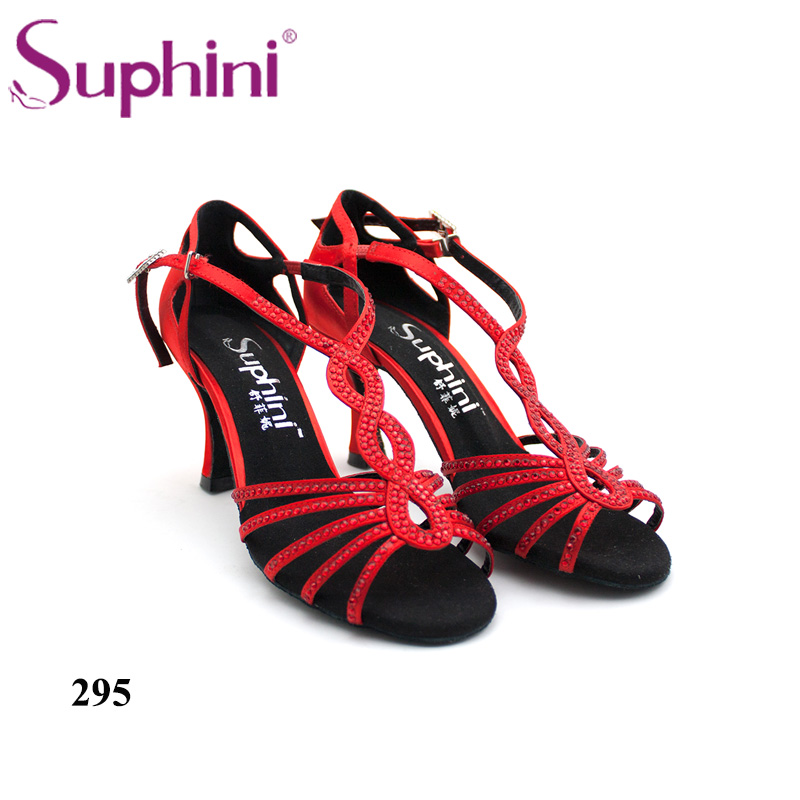 Free Shipping Suphini Red Professional Dance Shoes+Comfortable Woman Latin Dance Shoes free shipping 2017 suphini latin red love dance shoes woman dance shoes crystal comfortable flexible latin dance shoes