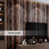3D Faux Vintage Plank Panel Wallpaper Wall Mural for Livingroom Bedroom Kitchen