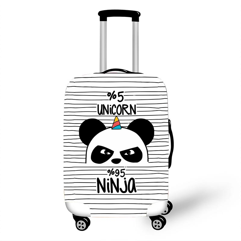 18''-32'' Cartoon Unicorn Panda Luggage Protective Cover Girls Travel Accessories Elastic Anti-dust Trolley Suitcase Cover