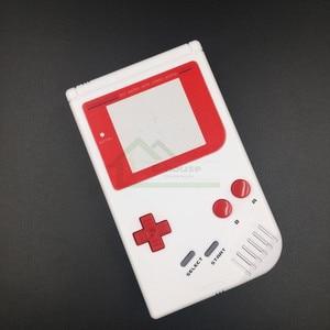 Image 2 - E evi Gameboy Klasik Beyaz Renk Yedek Konut Shell Kılıf Kapak GB Yağ Oyun Konsolu Kırmızı düğmeler