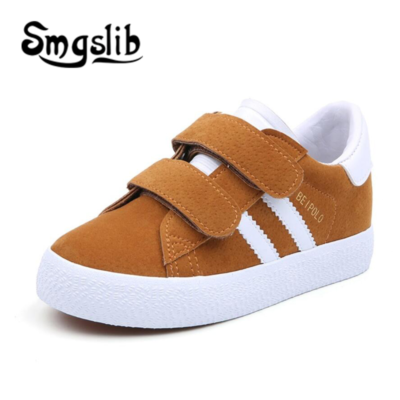 Children Sneaker Kids Shoes Boys Sport Trainers Shoes Casual Baby School Flat Leather Sneaker 2018 Autumn Girls Toddler Shoes
