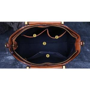 Image 5 - Original 100% Genuine Leather Bag Retro Embossed Cowhide Women Handbags High Quality Vintage Manual Paint Crossbody Hobos Bags