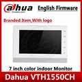 Dahua oryginalny VTH1550CH IP wideodomofon angielska wersja 7-cal kryty monitor z ekranem dotykowym zastąpić VTH1510CH z logo