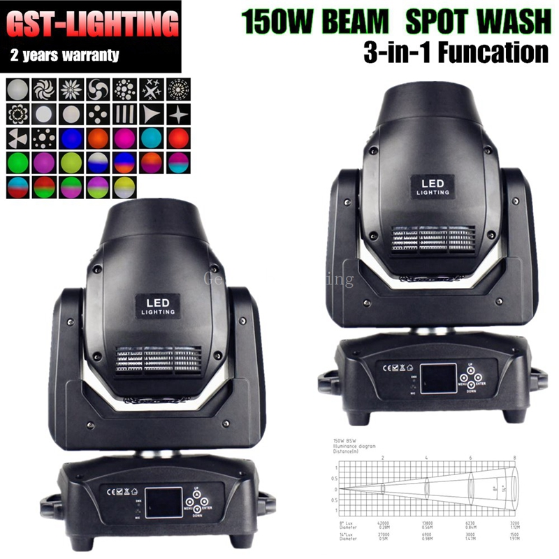 2pcs/lot beam spot wash moving head 150w dmx512 dj ZOOM solor beam spot wash led moving head stage light 10pcs lot cheap stage light 36 15w 5 in 1 led zoom moving head wash light rgbwy color mixing dmx512 lighting control