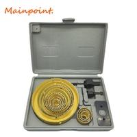 16pcs Yellow Hole Saw Cutting Set Kit 3 4 5 19mm 127mm High Quality Mandrels Saws
