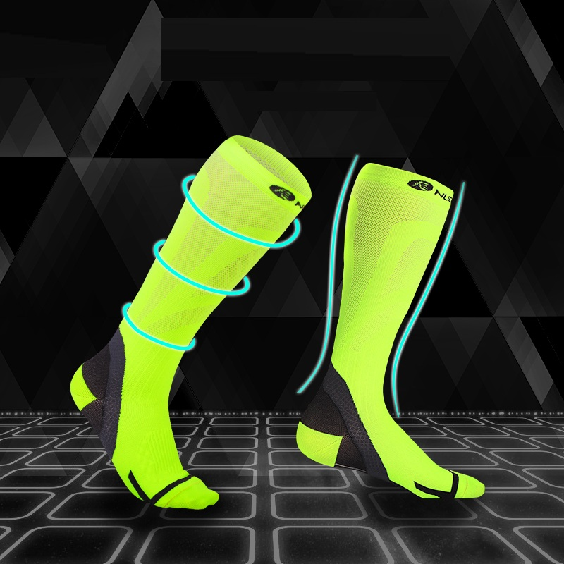 NUCKILY Professional Men Cycling Socks Running Clothing Unisex Foot Wear for Hiking Training Compression Skin Fit Apparel PF14 in Cycling Socks from Sports Entertainment