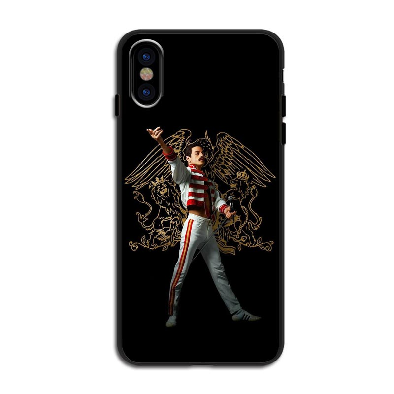 Michael Jackson Freddie Mercury Queen black Silicone TPU Cover Phone Cases for iPhone 5 5S 6 6S Plus 7 8 Plus X10 XR XS MAX in Half wrapped Cases from Cellphones Telecommunications