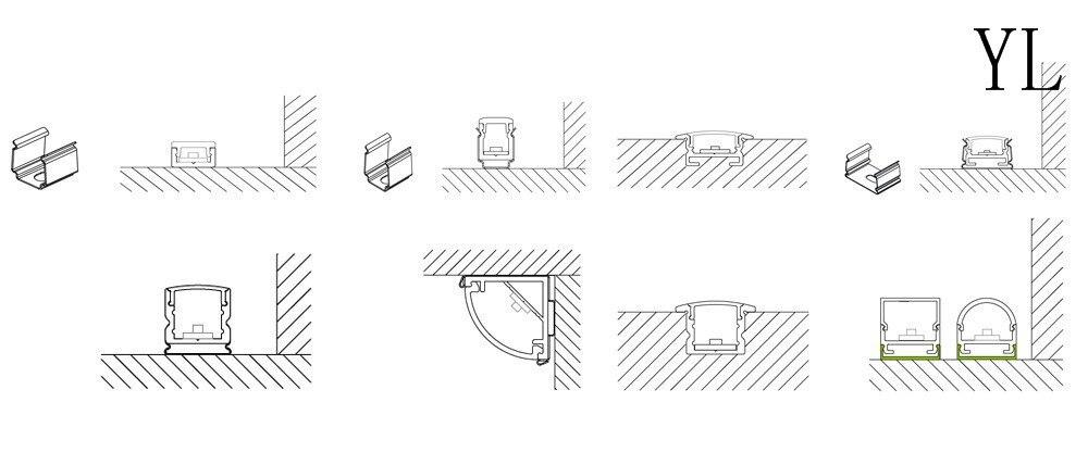 Bezpłatna wysyłka Nowy projekt w kształcie litery U Elastyczny - Oświetlenie LED - Zdjęcie 5