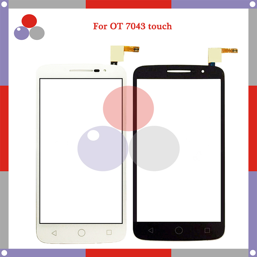 High Quality FFor <font><b>Alcatel</b></font> One Touch Pop 2 OT7043 7043Y 7043A 7043E <font><b>7043K</b></font> Touch Panel Glass Front Glass Lens Screen image