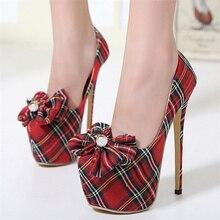 Free shipping spring women's fashion popular denim bowknot single shoes platform ultra high heel mixed colors high heel shoes