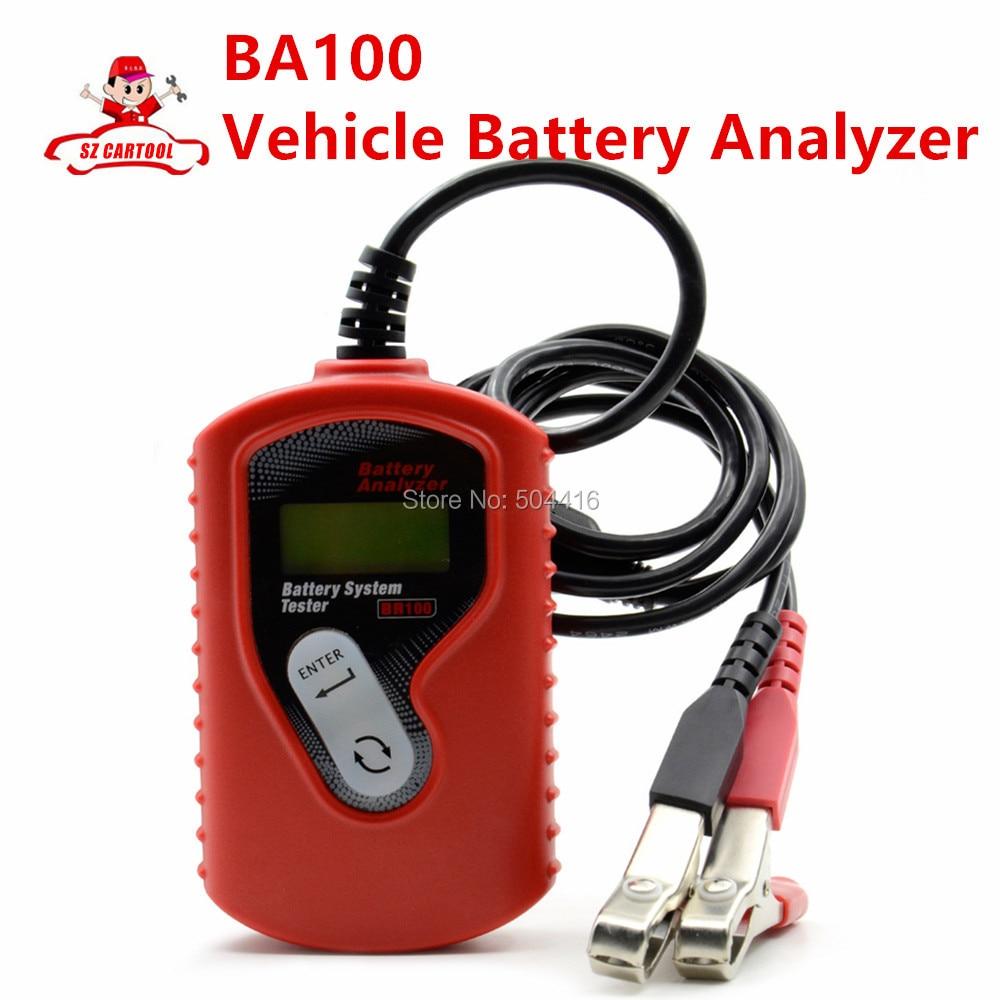 ФОТО BA100 Auto Motive Battery Analyzer Battery Tester Ba100 Battery Checker Vehicle12v Digital For All Cars Data Analyzer